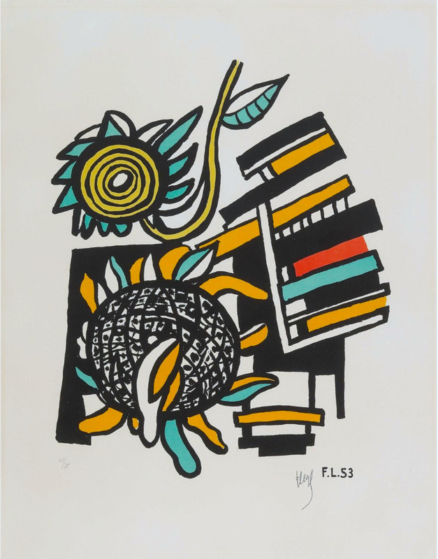 Fernand LÉGER - Stampa-Multiplo - Les deux tournesols