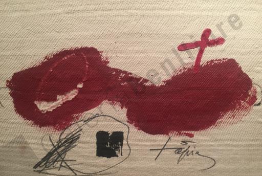 Antoni TAPIES - Peinture - Serie Llambrec Material nº 2