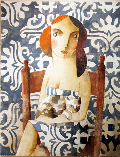 Didier LOURENÇO - Drawing-Watercolor - Blue Siesta