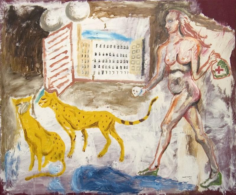 Manuel MONTERO - Peinture - Les testicules de Dyonisos