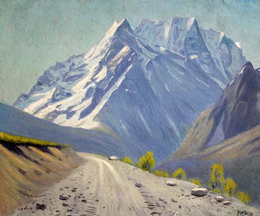 Valeriy NESTEROV - Pintura - Ulgen. Dombai mountains