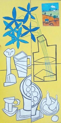 Harry BARTLETT FENNEY - Peinture - nature mort avec les poivres