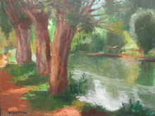 Charles KVAPIL - Painting - River View