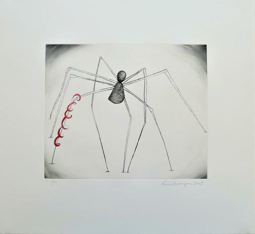 路易丝•布尔乔亚 - 版画 - Untitled (Spider and Snake)