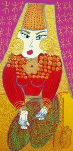 Isa SATOR - Painting - Dïhya Tadmut    (Cat N° 6753)