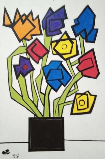 Harry BARTLETT FENNEY - Pittura - les fleurs