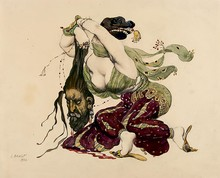 Léon BAKST - Drawing-Watercolor - Judith et Holopherne