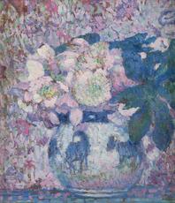 Théo VAN RYSSELBERGHE - Peinture - Fleurs dans un vase