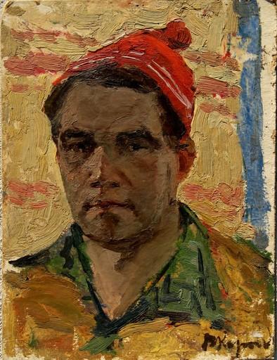 Vladimir Andreevich KOROBOV - Gemälde - L'HOMME AU BONNET