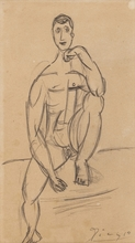 Pablo PICASSO (1881-1973) - Homme assis