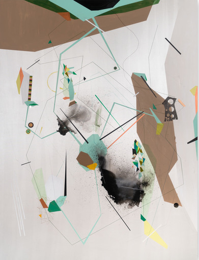 Dannielle TEGEDER - Painting - Escapement Mechanism, Cross Sections of Permeability and Lig