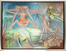 Roberto MATTA - Pintura - Threshold of Love