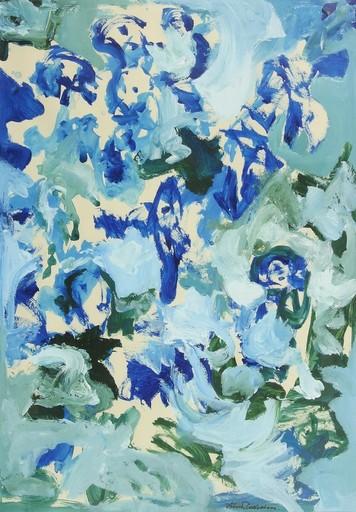 Finn PEDERSEN - Gemälde - Composition in blue-green