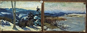 André ROZ - Peinture - 2es de Franche-Comté, marquées Griffon