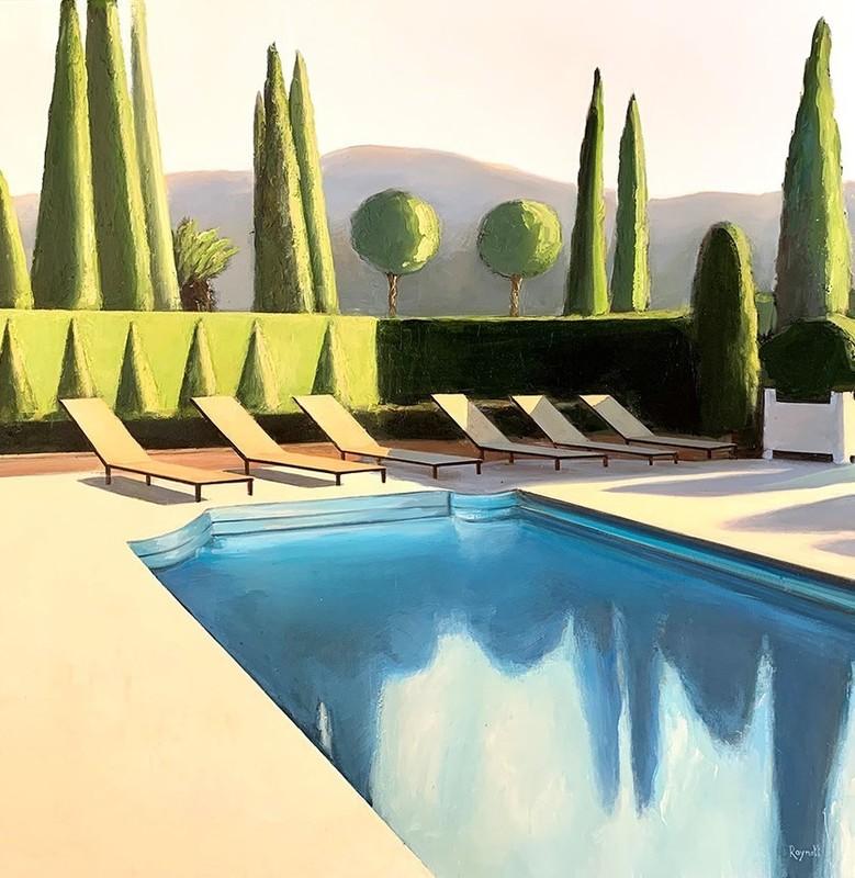 Daniel RAYNOTT - Painting - Soirée californienne