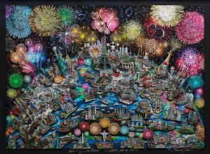 Charles FAZZINO - Druckgrafik-Multiple - Celebrating Our World