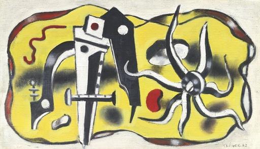 Fernand LÉGER - Painting - Composition au compas
