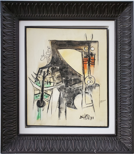 Wifredo LAM - Painting - Figure, Composition Magnifique