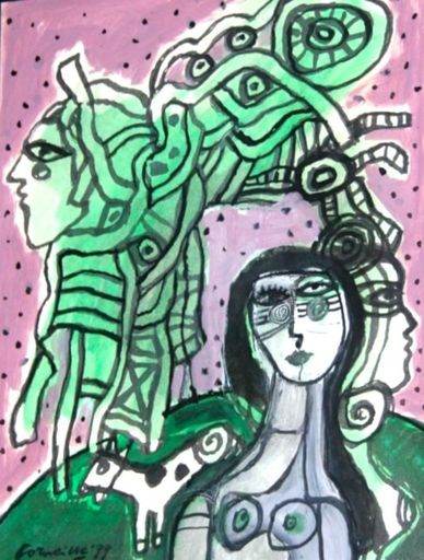 CORNEILLE - Drawing-Watercolor - Untitled