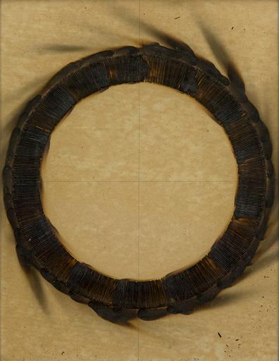 Bernard AUBERTIN - Pittura - Dessin de feu circulaire