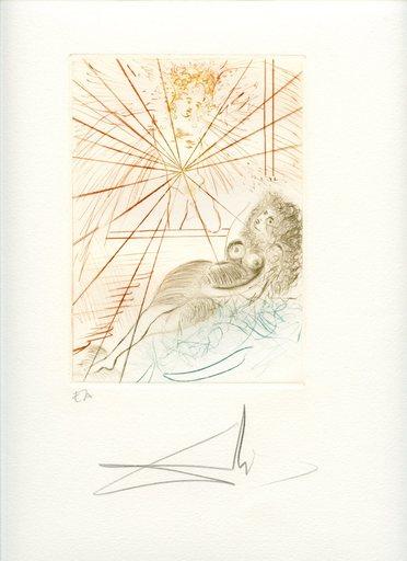萨尔瓦多·达利 - 版画 - GRAVURE 1972 SIGNÉE CRAYON ANNOTÉE EA ML555 HANDSIGNED EA ET