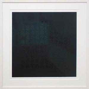 Hans Albert WALTER - Print-Multiple - Countdown in Schwarz