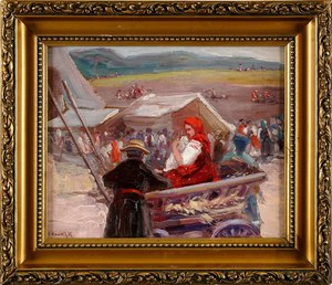Leon KOWALSKI - Gemälde - Genre Scene