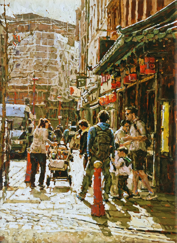 Tony KARPINSKI - Painting - Exploring Soho