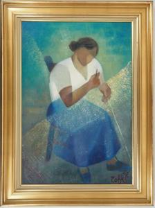 Louis TOFFOLI - Pintura - The Fisherman's Wife