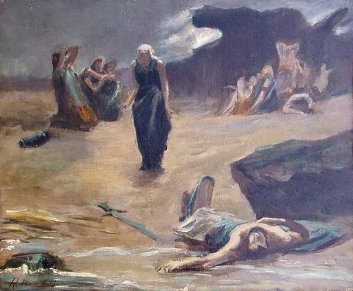 Ramon PARADA JUSTEL - Pittura - ESCENA BIBLICA