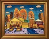 Kim BRITOV - Pintura - Fall in the village