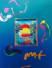 Peter MAX - Pintura - BETTER WORLD (OVERPAINT)