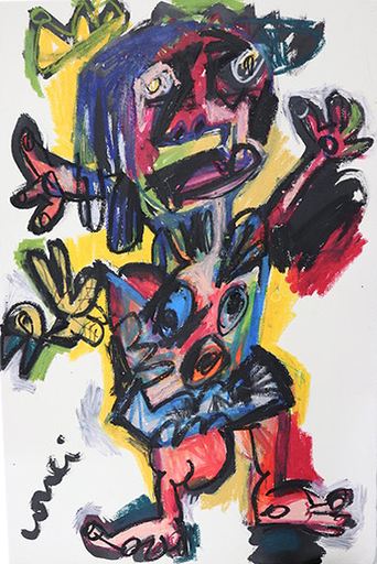Thierry LOULÉ - Drawing-Watercolor - L'oiseau répudié