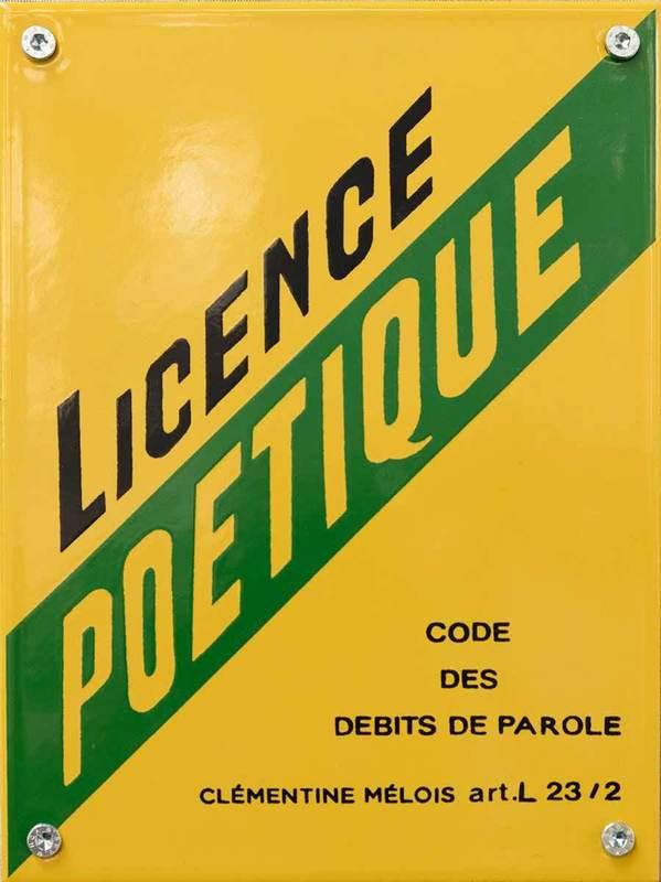 Clementine MELOIS - Estampe-Multiple - Licence poétique