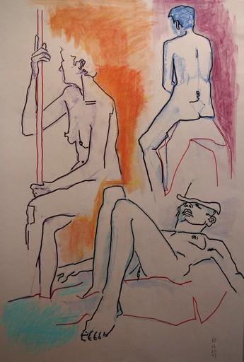 R.CAVALIÉ - Drawing-Watercolor - N.R. 136