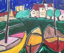 Christian DURIAUD - Painting - 3 boats