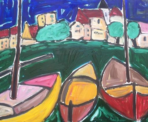 Christian DURIAUD - Pintura - 3 boats