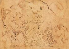Emile Othon FRIESZ - Drawing-Watercolor - Repos en Provence