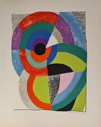 Sonia DELAUNAY-TERK - 版画 - Composition orphique