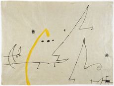 Joan MIRO - Drawing-Watercolor - Oiseaux, constellations