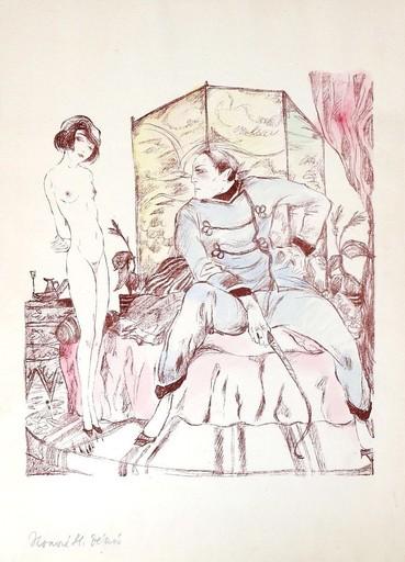 Erich GODAL - Drawing-Watercolor - Les Maitresses II