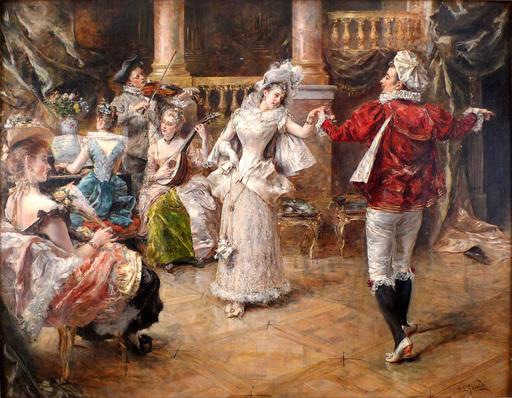 Eduardo Léon GARRIDO - Gemälde - An Elegant Dance