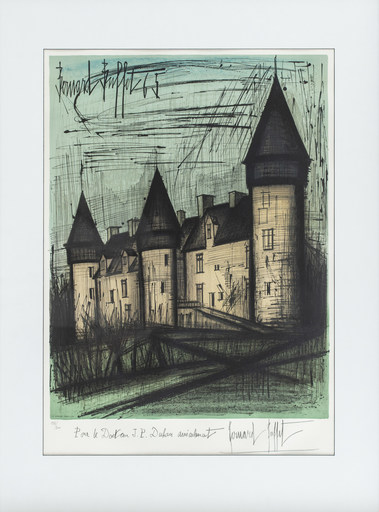 Bernard BUFFET - Estampe-Multiple - Chateau de Culan