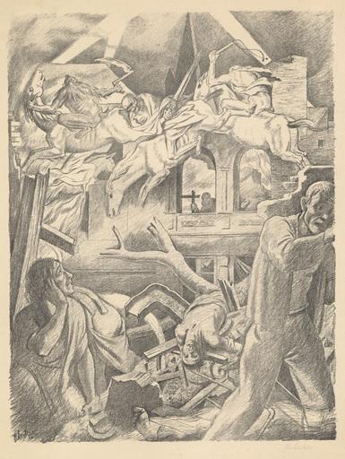 Peter HECKER - Print-Multiple - Die apokalptischen Reiter