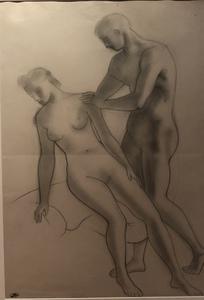 André DERAIN - Dessin-Aquarelle - Deux nus