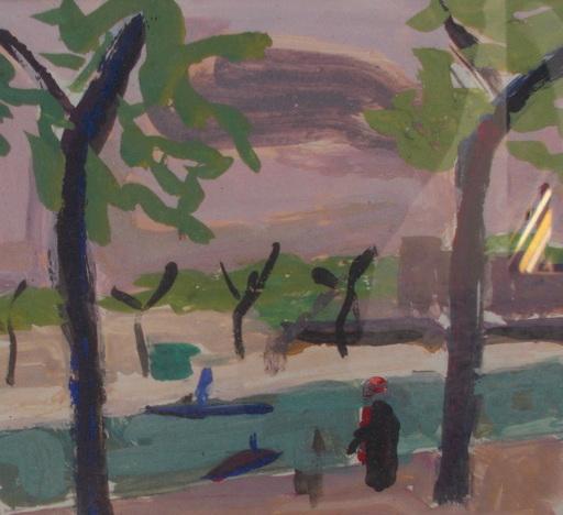 Albert CHUBAC - Drawing-Watercolor - La seine
