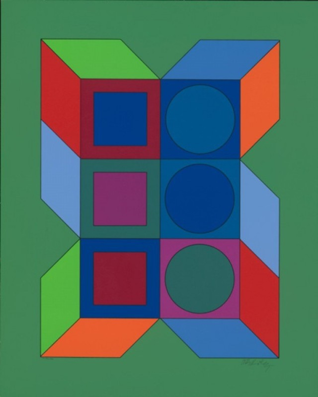 Victor VASARELY - Estampe-Multiple - XLV
