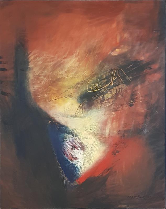 Costa LEFKOCHIR - Painting - L'Opera du Feu