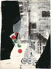 """Antoni CLAVÉ (1913-2005) - """"Point vert, point rouge"""""""