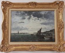Eugène BOUDIN - Peinture - le port de Brest